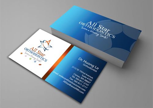 All Star Orthodontics Business Cards and Stationery  Draft # 262 by jpgart92