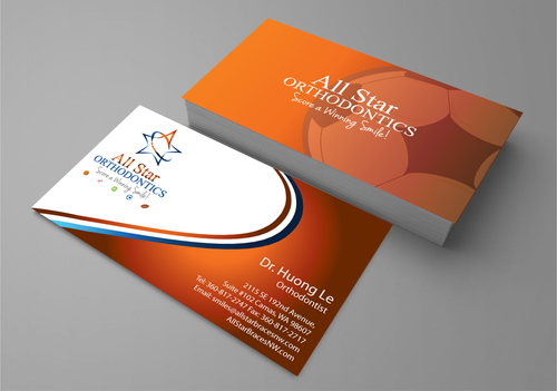 All Star Orthodontics Business Cards and Stationery  Draft # 265 by jpgart92