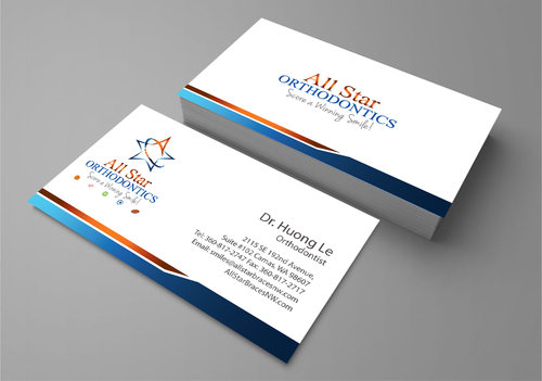 All Star Orthodontics Business Cards and Stationery  Draft # 268 by jpgart92