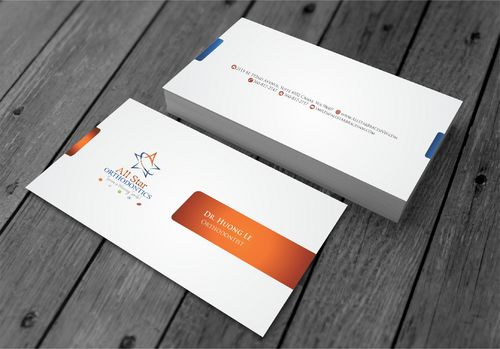 All Star Orthodontics Business Cards and Stationery  Draft # 272 by xtremecreative3