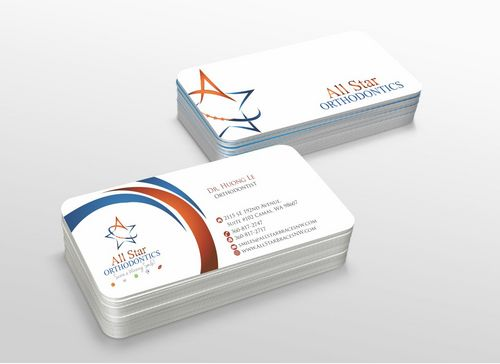 All Star Orthodontics Business Cards and Stationery  Draft # 286 by xtremecreative3