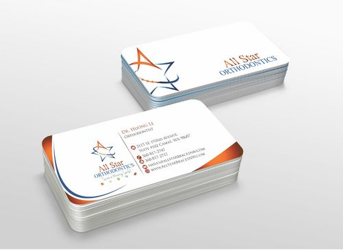 All Star Orthodontics Business Cards and Stationery  Draft # 292 by xtremecreative3