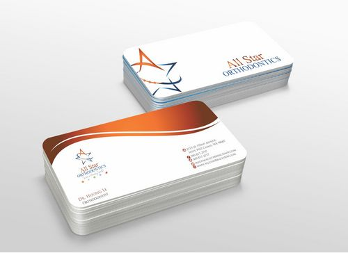 All Star Orthodontics Business Cards and Stationery  Draft # 296 by xtremecreative3