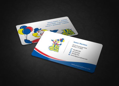 JJ's Party House Business Cards and Stationery Winning Design by einsanimation