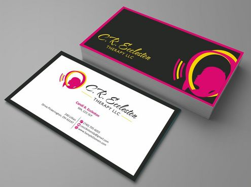 C.R. Eccleston Therapy LLC Business Cards and Stationery  Draft # 193 by Deck86
