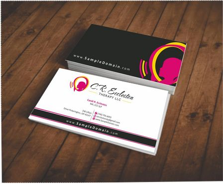 C.R. Eccleston Therapy LLC Business Cards and Stationery  Draft # 196 by Deck86