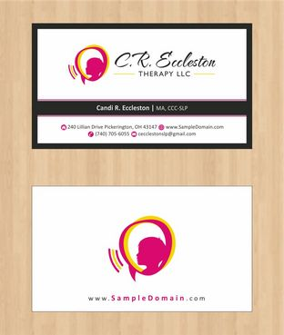 C.R. Eccleston Therapy LLC Business Cards and Stationery  Draft # 203 by Deck86