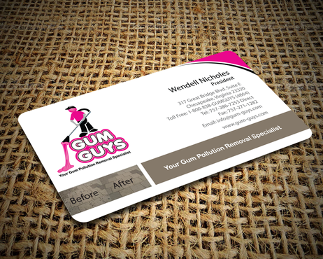 Gum Guys Business Cards and Stationery  Draft # 230 by jpgart92