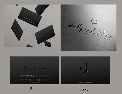 Henley & Price Business Cards and Stationery  Draft # 15 by eggtyegg