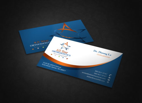 All Star Orthodontics Business Cards and Stationery  Draft # 345 by einsanimation