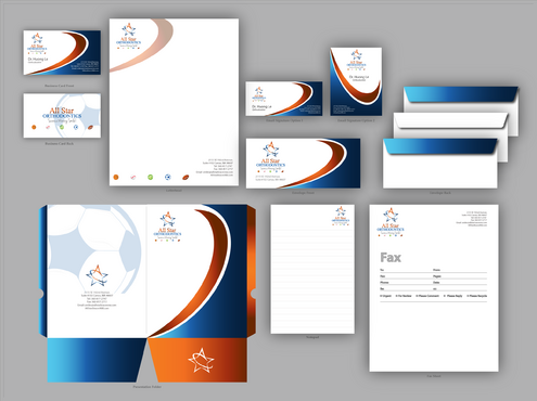 All Star Orthodontics Business Cards and Stationery  Draft # 349 by jpgart92