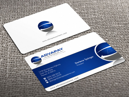 AdvaPay Systems Business Cards and Stationery  Draft # 25 by Xpert