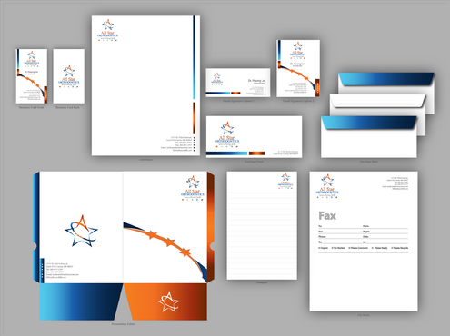All Star Orthodontics Business Cards and Stationery  Draft # 371 by jpgart92