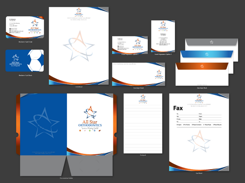 All Star Orthodontics Business Cards and Stationery  Draft # 373 by jpgart92