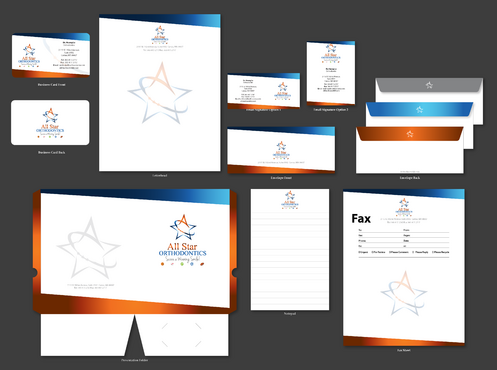All Star Orthodontics Business Cards and Stationery  Draft # 374 by jpgart92