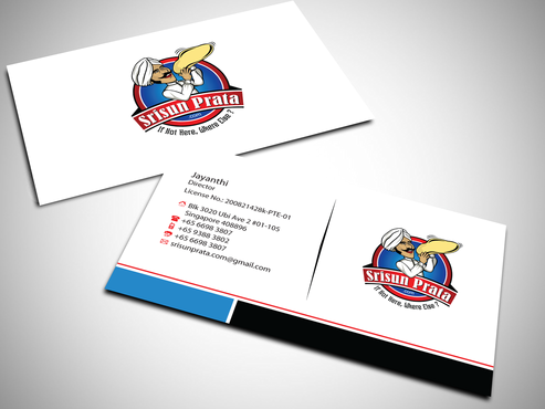 Srisun Prata.Com Food Holding's pte ltd Business Cards and Stationery  Draft # 227 by jpgart92