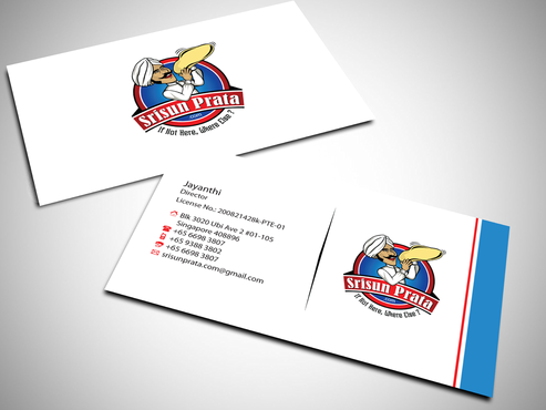 Srisun Prata.Com Food Holding's pte ltd Business Cards and Stationery  Draft # 229 by jpgart92