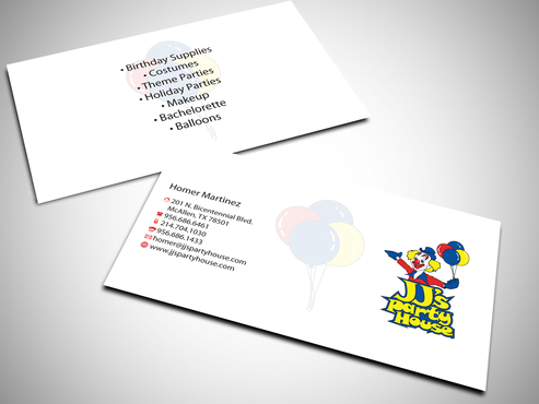 JJ's Party House Business Cards and Stationery  Draft # 164 by jpgart92