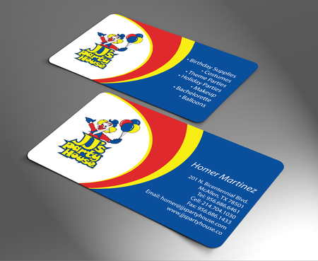 JJ's Party House Business Cards and Stationery  Draft # 167 by jpgart92