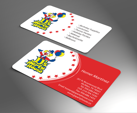 JJ's Party House Business Cards and Stationery  Draft # 168 by jpgart92