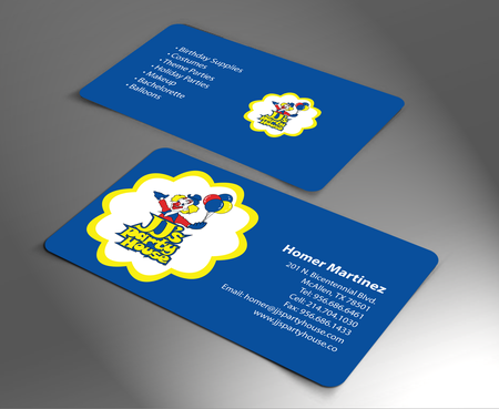 JJ's Party House Business Cards and Stationery  Draft # 170 by jpgart92