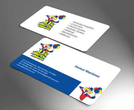 JJ's Party House Business Cards and Stationery  Draft # 172 by jpgart92