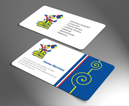 JJ's Party House Business Cards and Stationery  Draft # 173 by jpgart92