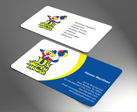 JJ's Party House Business Cards and Stationery  Draft # 174 by jpgart92