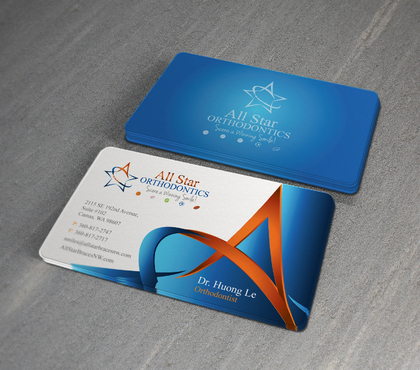 All Star Orthodontics Business Cards and Stationery  Draft # 375 by twenty2