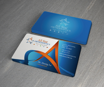 All Star Orthodontics Business Cards and Stationery  Draft # 376 by twenty2