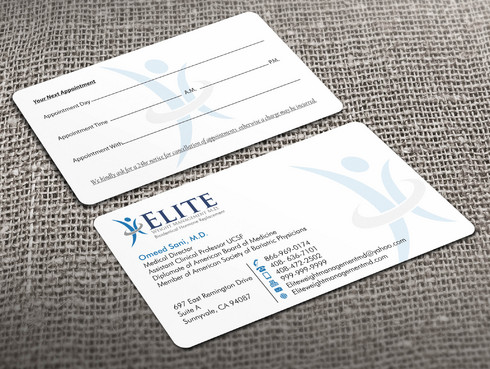 Elite Weight Management MD Business Cards and Stationery  Draft # 245 by Xpert