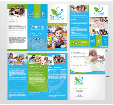 Sprout Early Education Center Marketing collateral Winning Design by sevensky