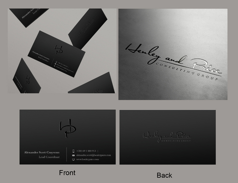 Henley & Price Business Cards and Stationery Winning Design by eggtyegg