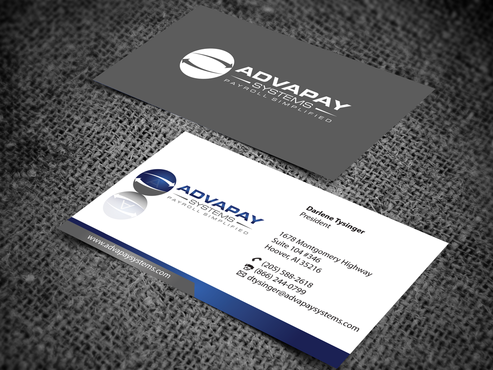 AdvaPay Systems Business Cards and Stationery  Draft # 200 by jpgart92