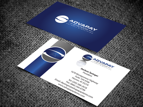 AdvaPay Systems Business Cards and Stationery  Draft # 205 by jpgart92