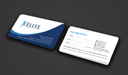 Elite Weight Management MD Business Cards and Stationery  Draft # 291 by einsanimation
