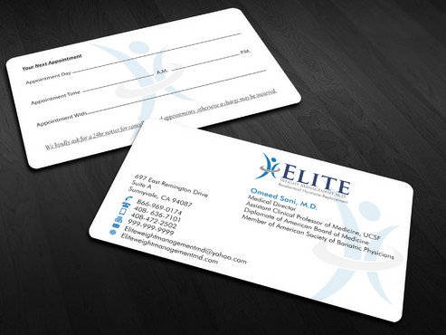 Elite Weight Management MD Business Cards and Stationery  Draft # 295 by Xpert