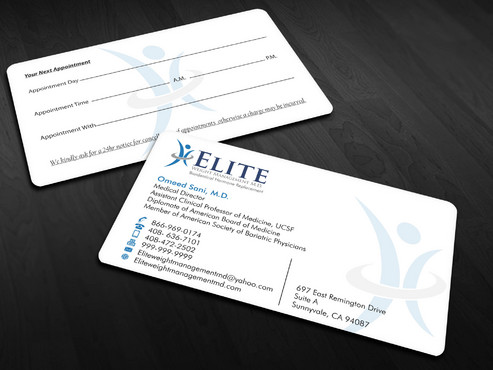 Elite Weight Management MD Business Cards and Stationery  Draft # 296 by Xpert