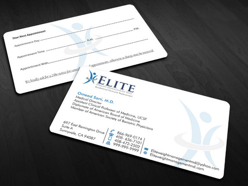 Elite Weight Management MD Business Cards and Stationery  Draft # 297 by Xpert