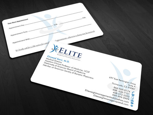 Elite Weight Management MD Business Cards and Stationery  Draft # 298 by Xpert