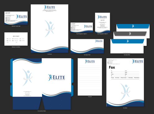 Elite Weight Management MD Business Cards and Stationery  Draft # 300 by jpgart92