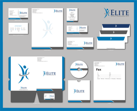 Elite Weight Management MD Business Cards and Stationery  Draft # 305 by jpgart92