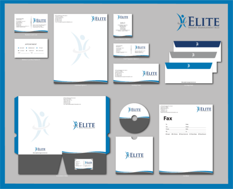 Elite Weight Management MD Business Cards and Stationery  Draft # 308 by jpgart92