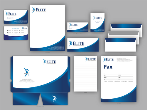 Elite Weight Management MD Business Cards and Stationery  Draft # 316 by jpgart92