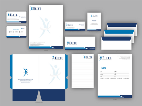 Elite Weight Management MD Business Cards and Stationery  Draft # 318 by jpgart92