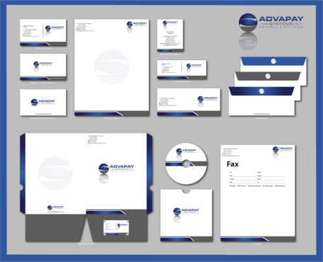 AdvaPay Systems Business Cards and Stationery  Draft # 222 by jpgart92