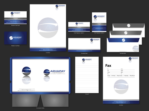 AdvaPay Systems Business Cards and Stationery  Draft # 232 by jpgart92