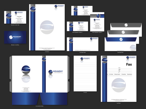 AdvaPay Systems Business Cards and Stationery  Draft # 233 by jpgart92