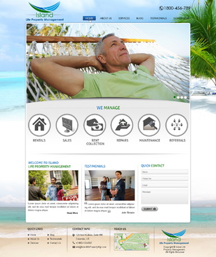 Island Life Property Management Web Design  Draft # 33 by mycrodesigns