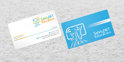 SafetyNET Education Business Cards and Stationery Winning Design by sevensky